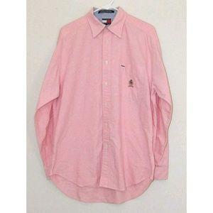 Vtg Tommy HilfigerMens Size MedPink Denim Shirt